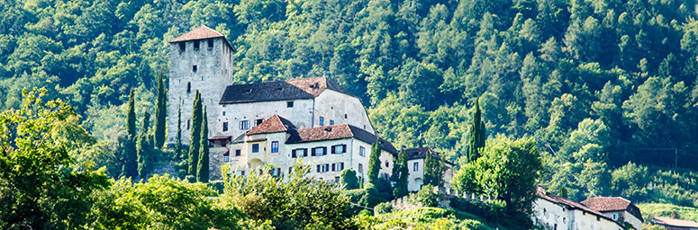 Castle Lebenberg above Cermes on a little hill surrounded by nature