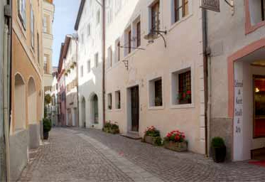 The historical center of Chiusa, South Tyrol