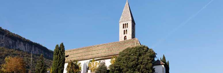 View of the Church in Cortaccia, South Tyrol