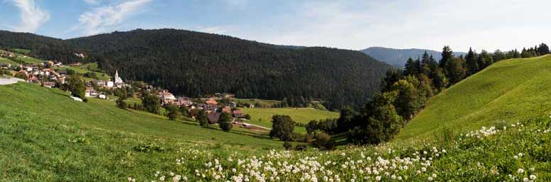 Meadows around Meltina, pure landscape in South Tyrol's South