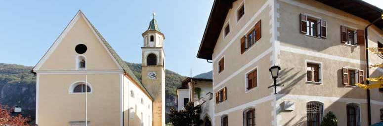 The city center of Ora, in South Tyrol
