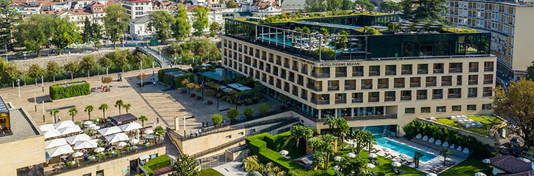 The thermal city of Merano, in South Tyrol