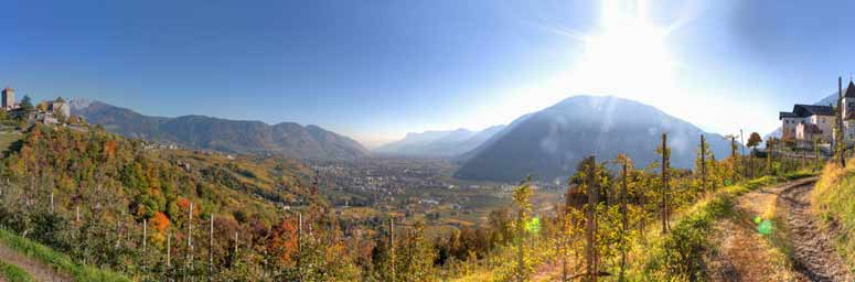Panoramic view of Tirolo, near Merano