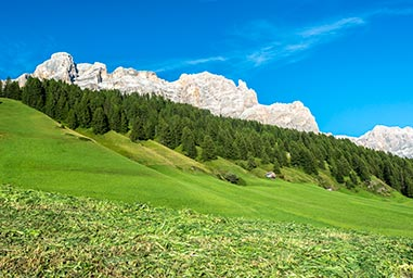 Mountain landscape at San Cassiano