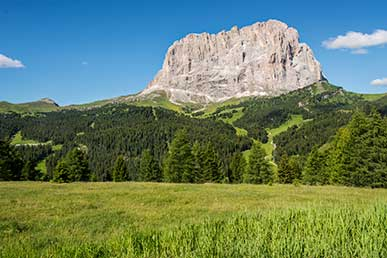 The Sassolungo Mountain