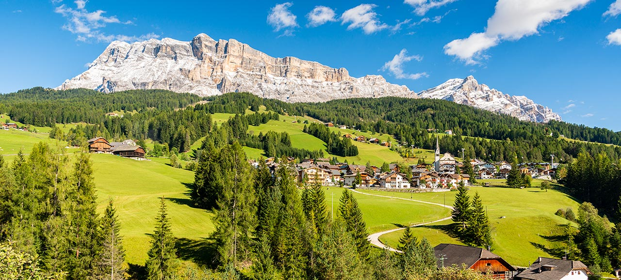 Panoramic view of one of the mountains in Alta Badia