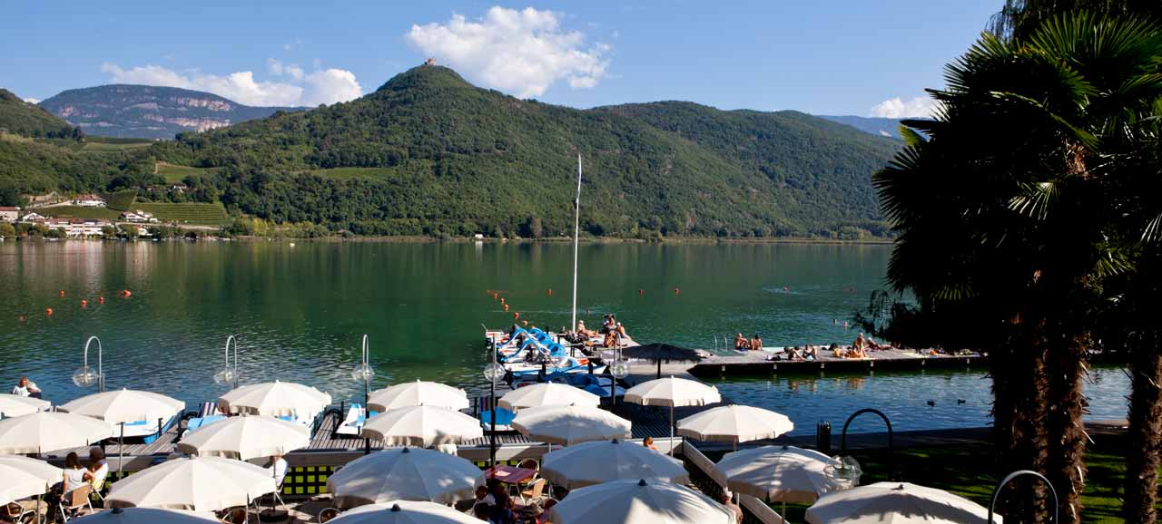 The Caldaro lake during the summer time
