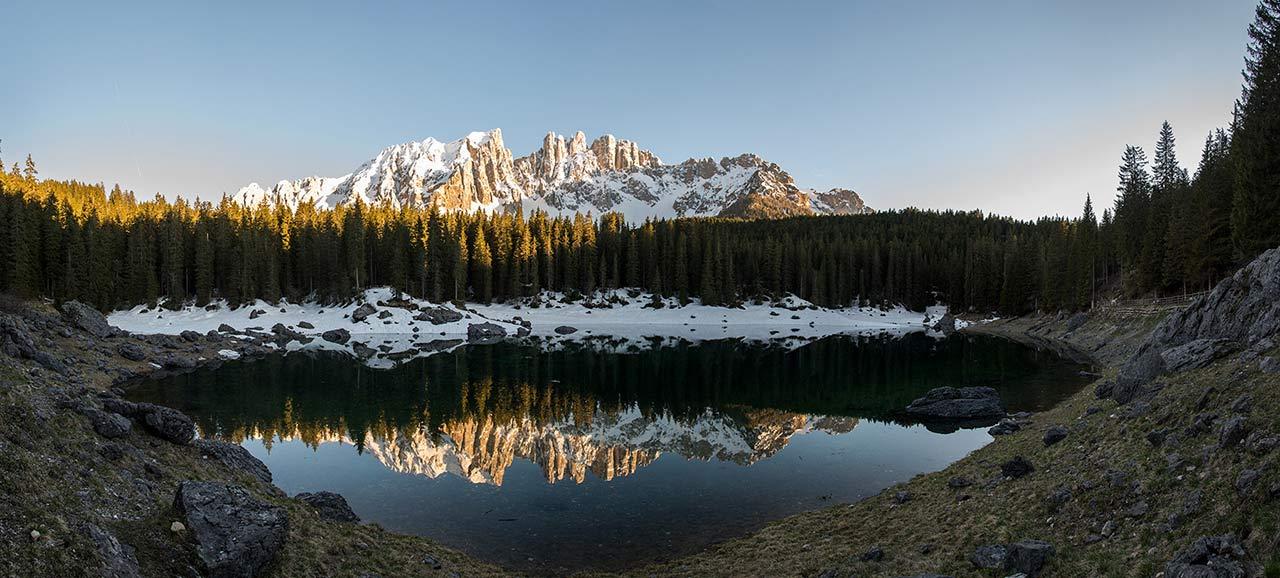 Lago Di Carezza In Alto Adige  Catinaccio Latemar