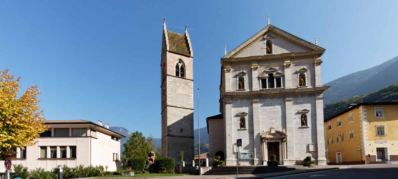 View of the Church of Salorno, South Tyrol