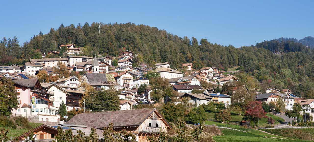The village of Trodena and its idyllic surroundings