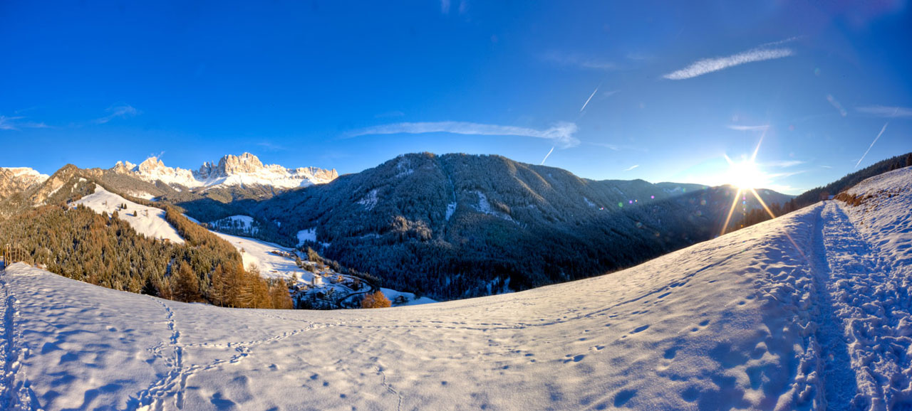 Winter time in the Ega Valley, among the Dolomites