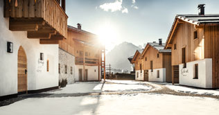 Chalets Liondes im Winter