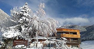 Panoramic view of the Hotel Dolomitenblick at Terento