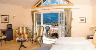 Suite of the Hotel Kristall at Marlengo near Merano