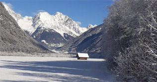 Winter im Schmalzlhof in Rasen Antholz