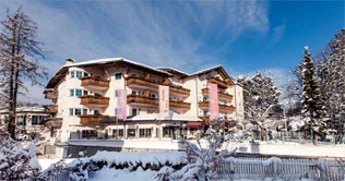 Winter picture of the Wellness & Vitalhotel Erica in Ega vallet