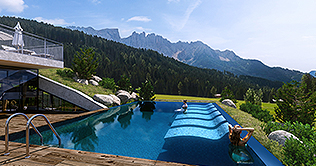 Berghotel Moseralm at Nova Levante in Ega valley