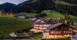The Rainer Hotel in San Candido in summer